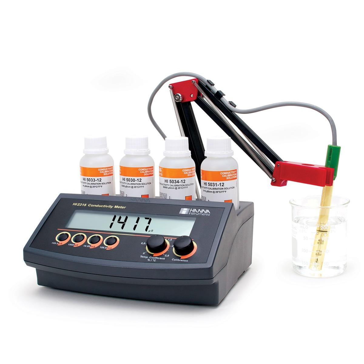 Medidor de Conductividad de Sobremesa con ATC - HI2315