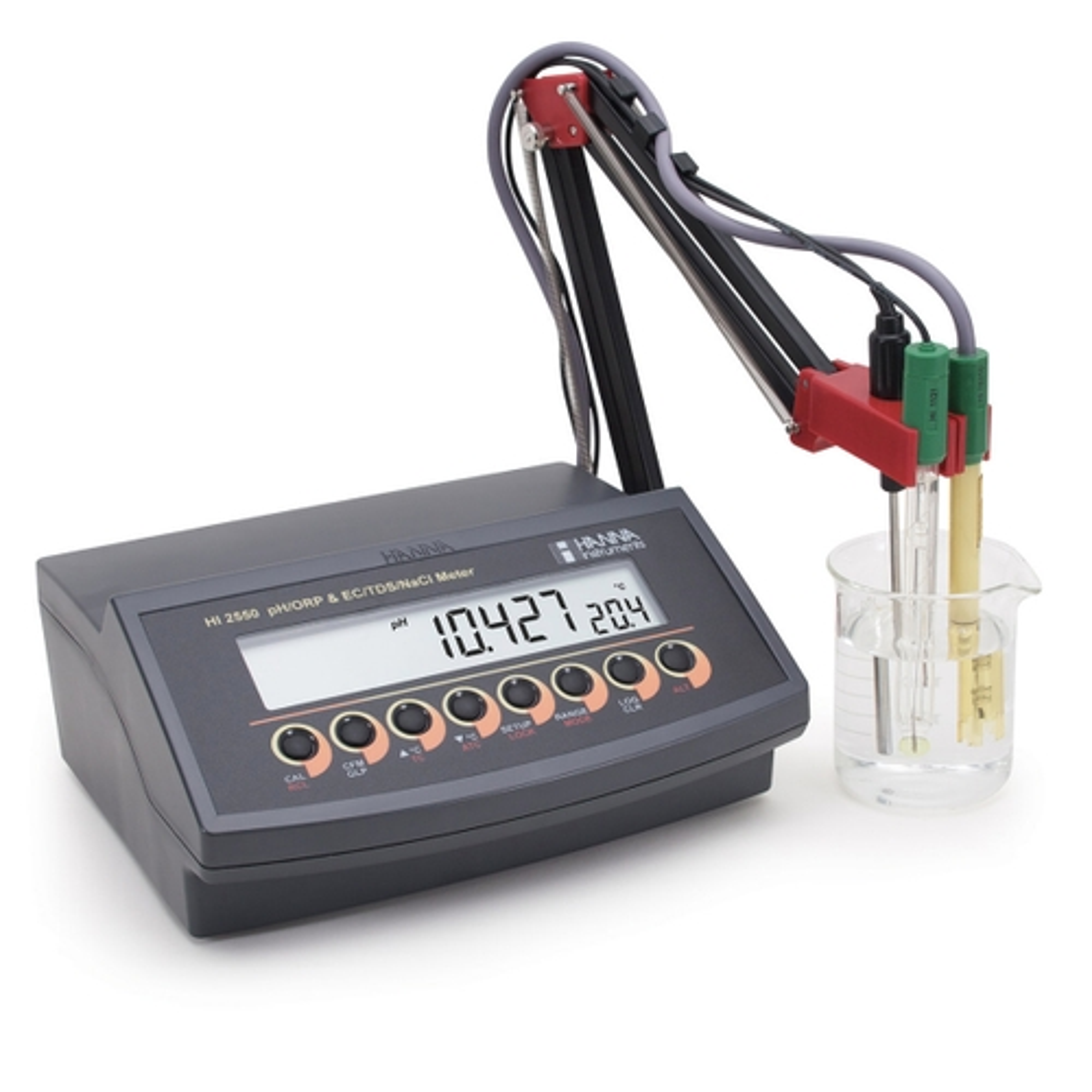 Medidor Multiparámetro de Sobremesa para pH/mV/ISE y CE/TDS/Salinidad - HI2550