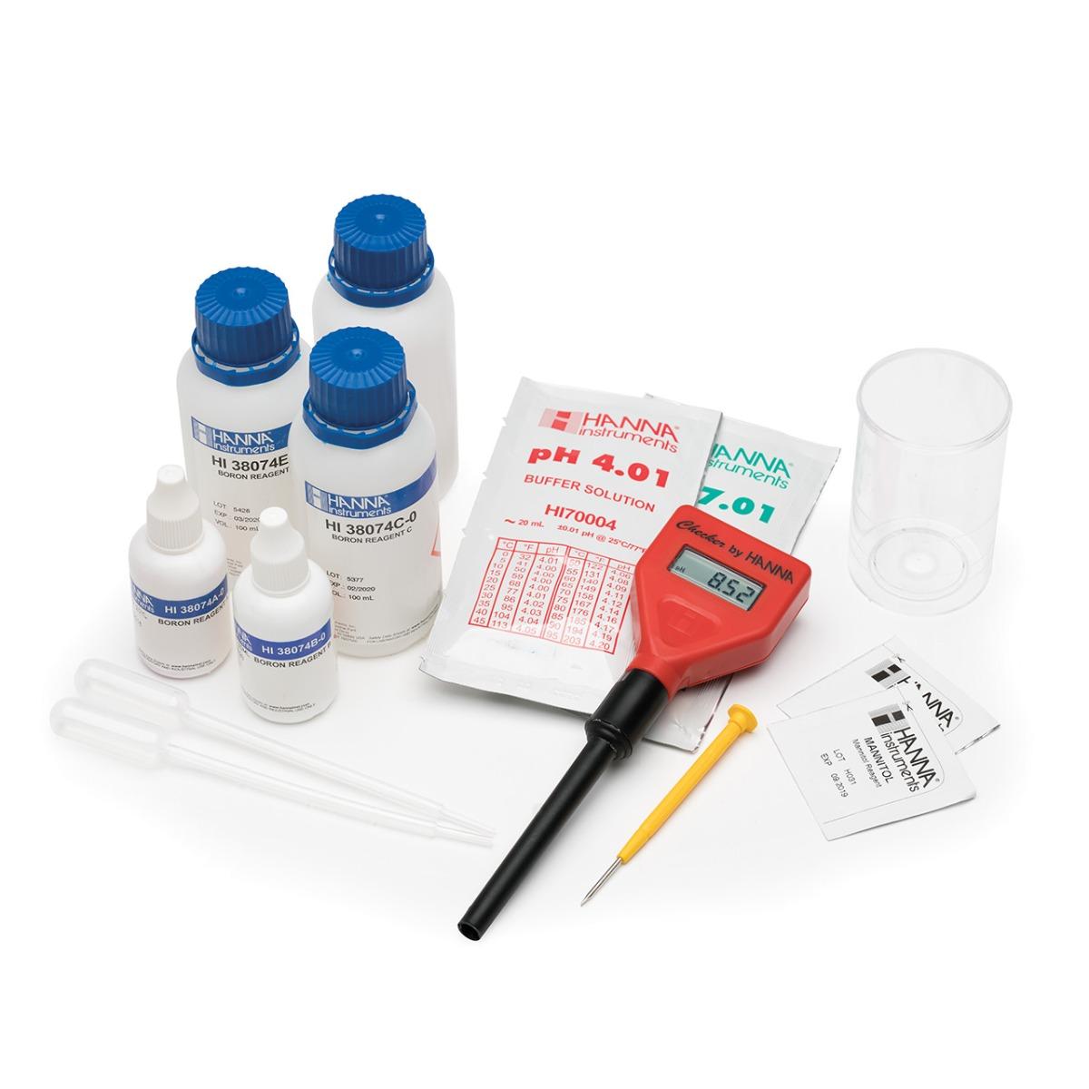 Kit Químico para Pruebas de Boro en Agua de Riego - HI38074
