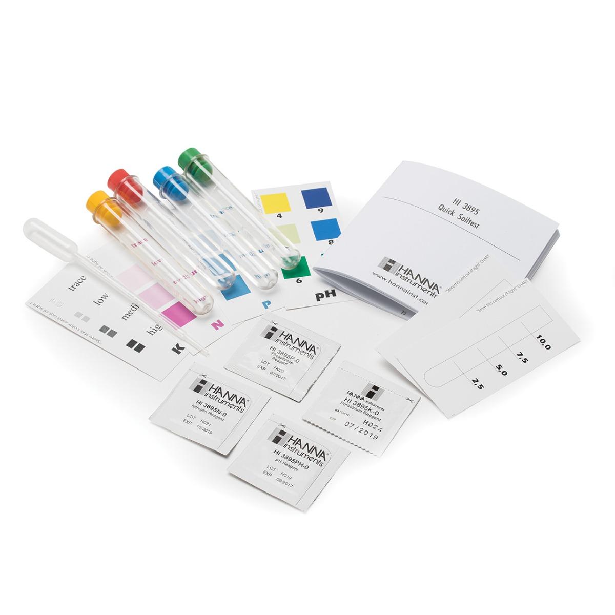 Kit Químico de Pruebas para Suelo NPK (10 pruebas cada uno) - HI3895