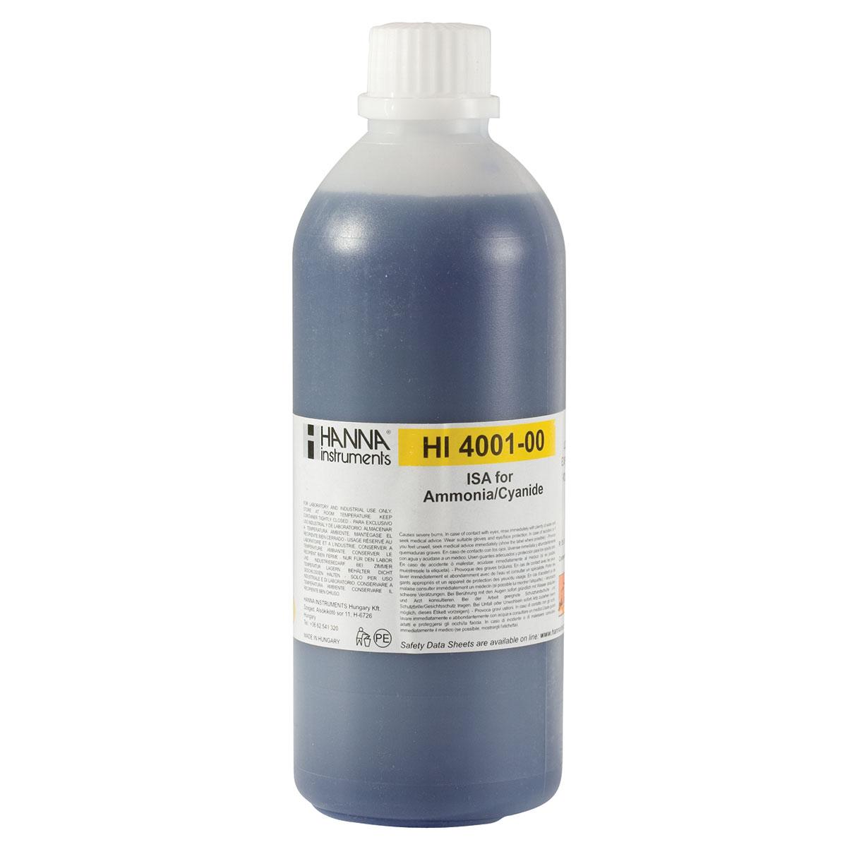 Ajustador de Fuerza Iónica (ISA) para ISEs de Amoníaco y Cianuro - HI4001-00