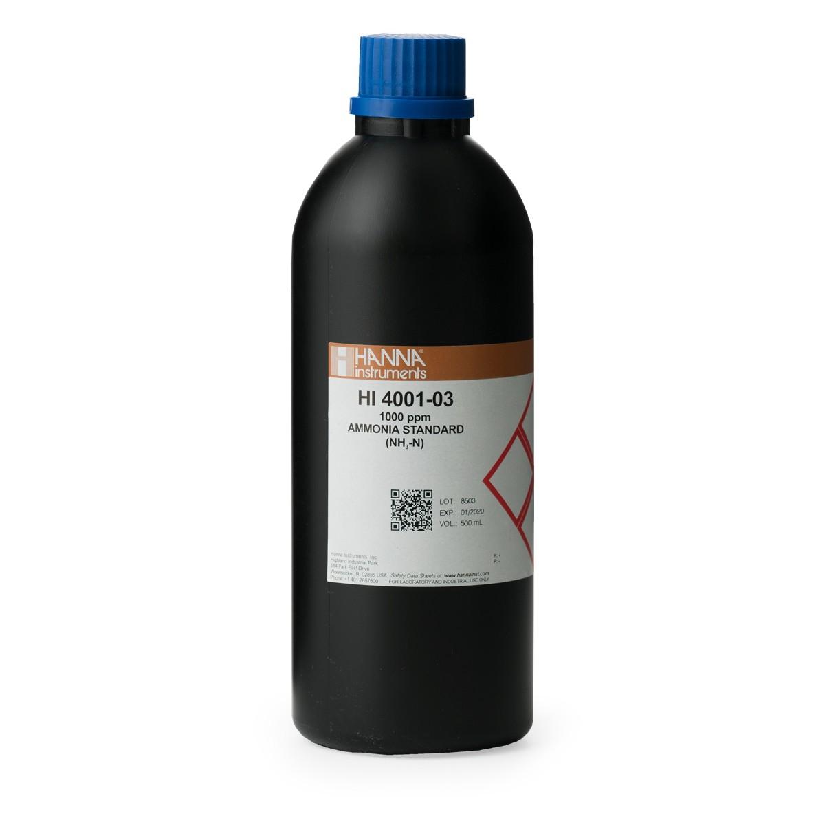 Solución Estándar de Amoníaco de 1000 ppm para ISE - HI4001-03