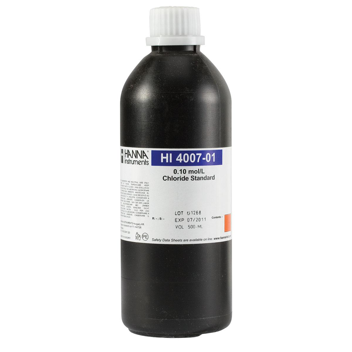Solución Estándar 0.1M para ISE de Cloruro (500mL) - HI4007-01
