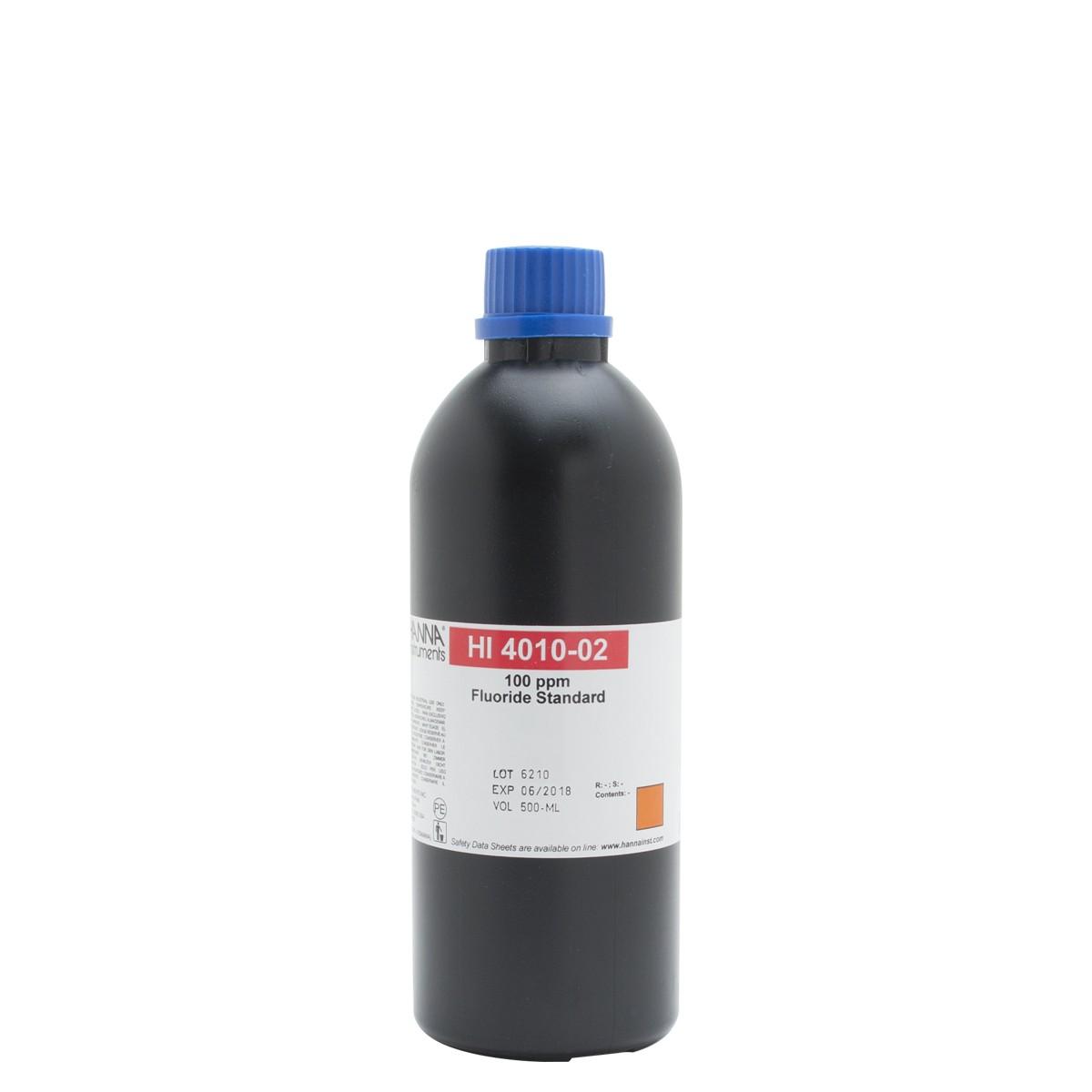 Solución Estándar de Fluoruro de 100 ppm para ISE - HI4010-02