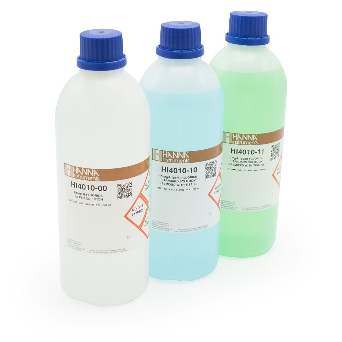 Fluoride Calibration Solution Kit - HI4010-30