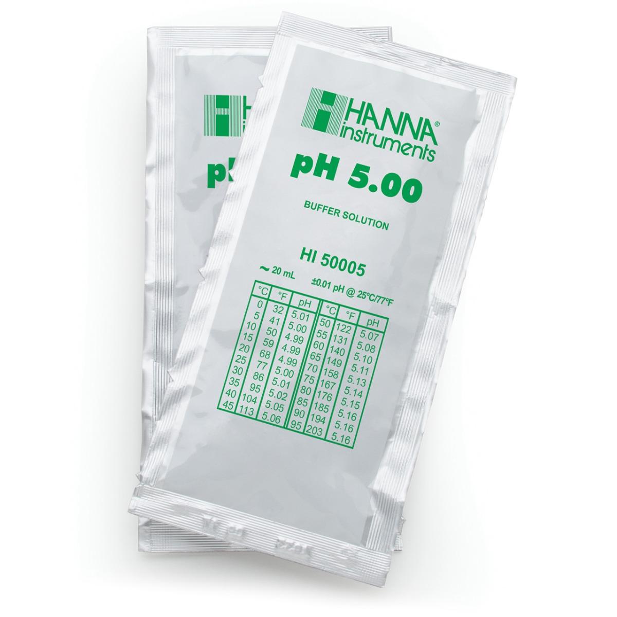 HI50005-02 pH 5.00 Technical Calibration Buffer (25 x 20 mL) Sachets