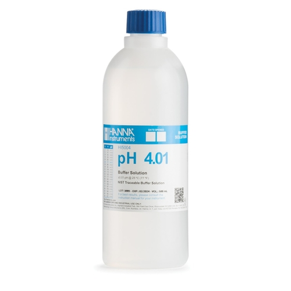 HI5004 pH 4.01 Technical Calibration Buffer (500 mL)