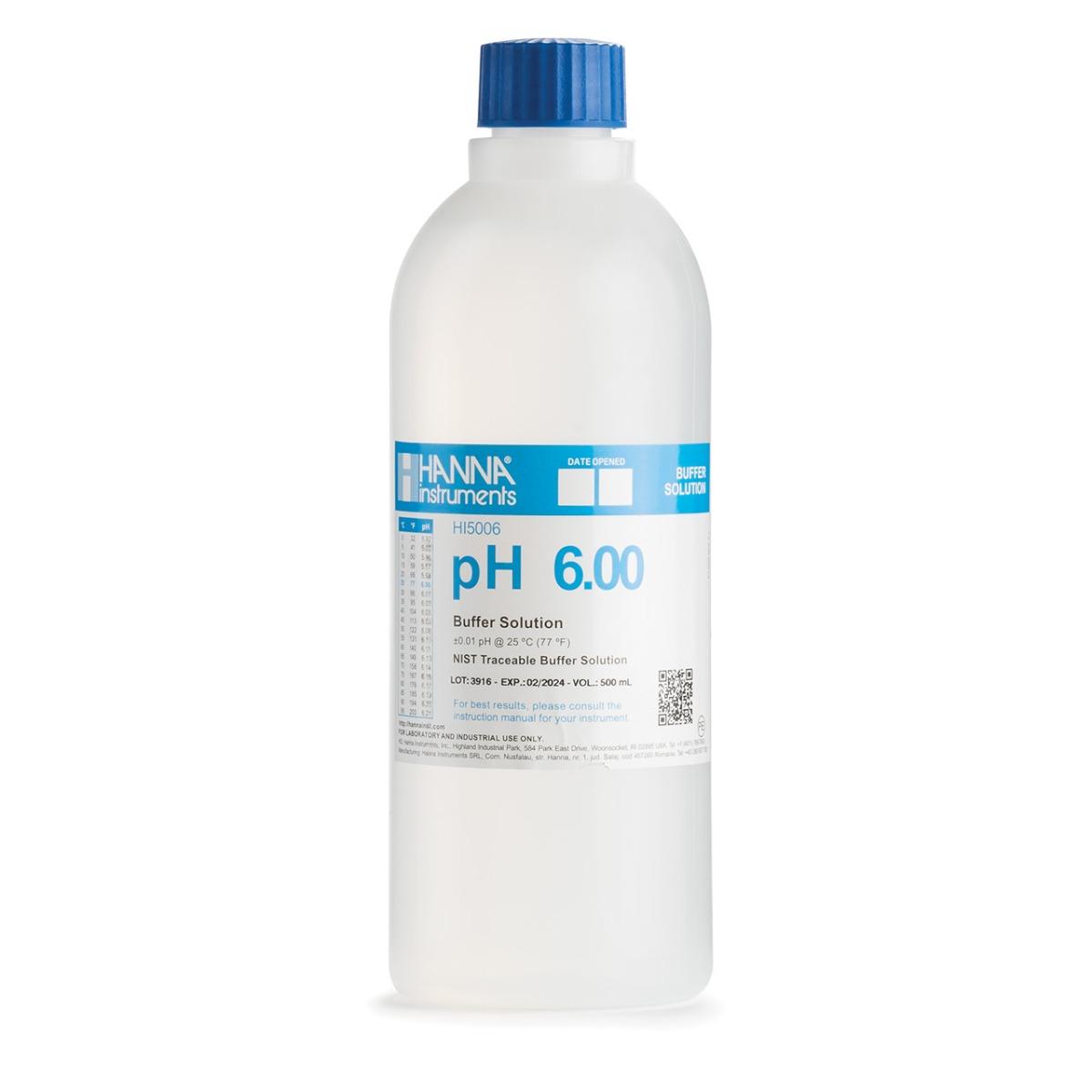 HI5006 pH 6.00 Technical Calibration Buffer (500 mL)
