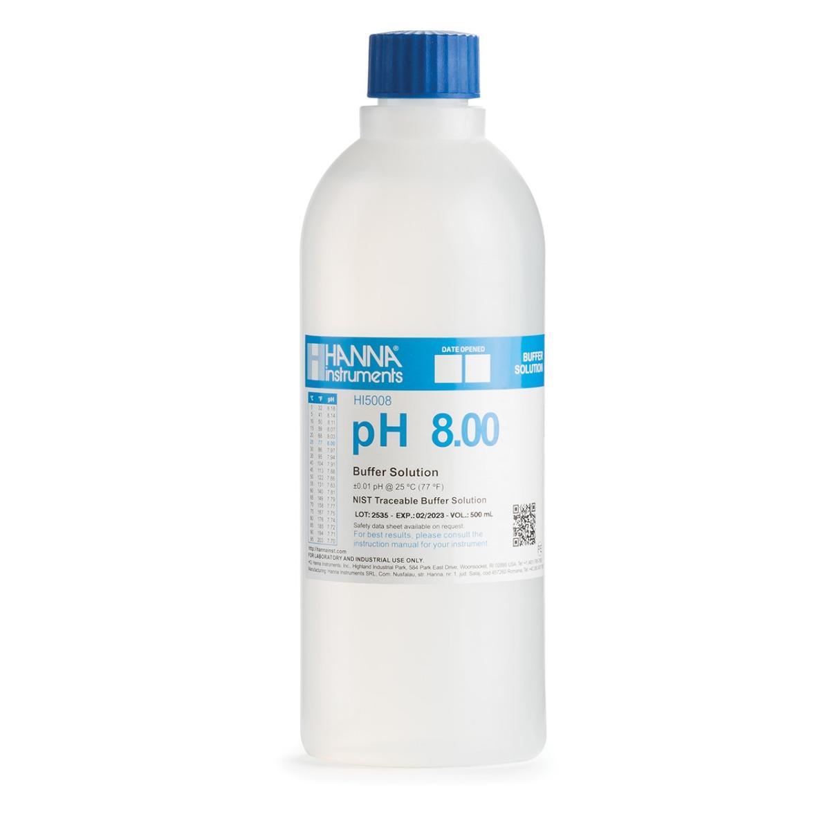 HI5008 pH 8.00 Technical Calibration Buffer (500 mL)