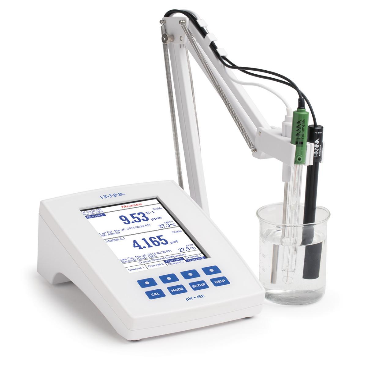Medidor de Laboratorio de Grado de Investigación de Dos Canales para pH/mV/ISE - HI5222