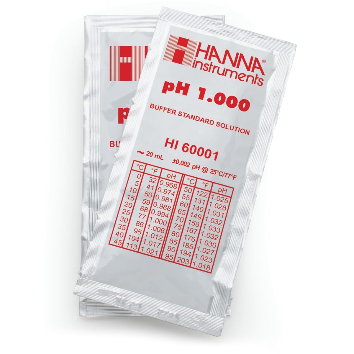 HI60001-02 pH 1.000 Millesimal Buffer Solution (25 x 20 mL) Sachets