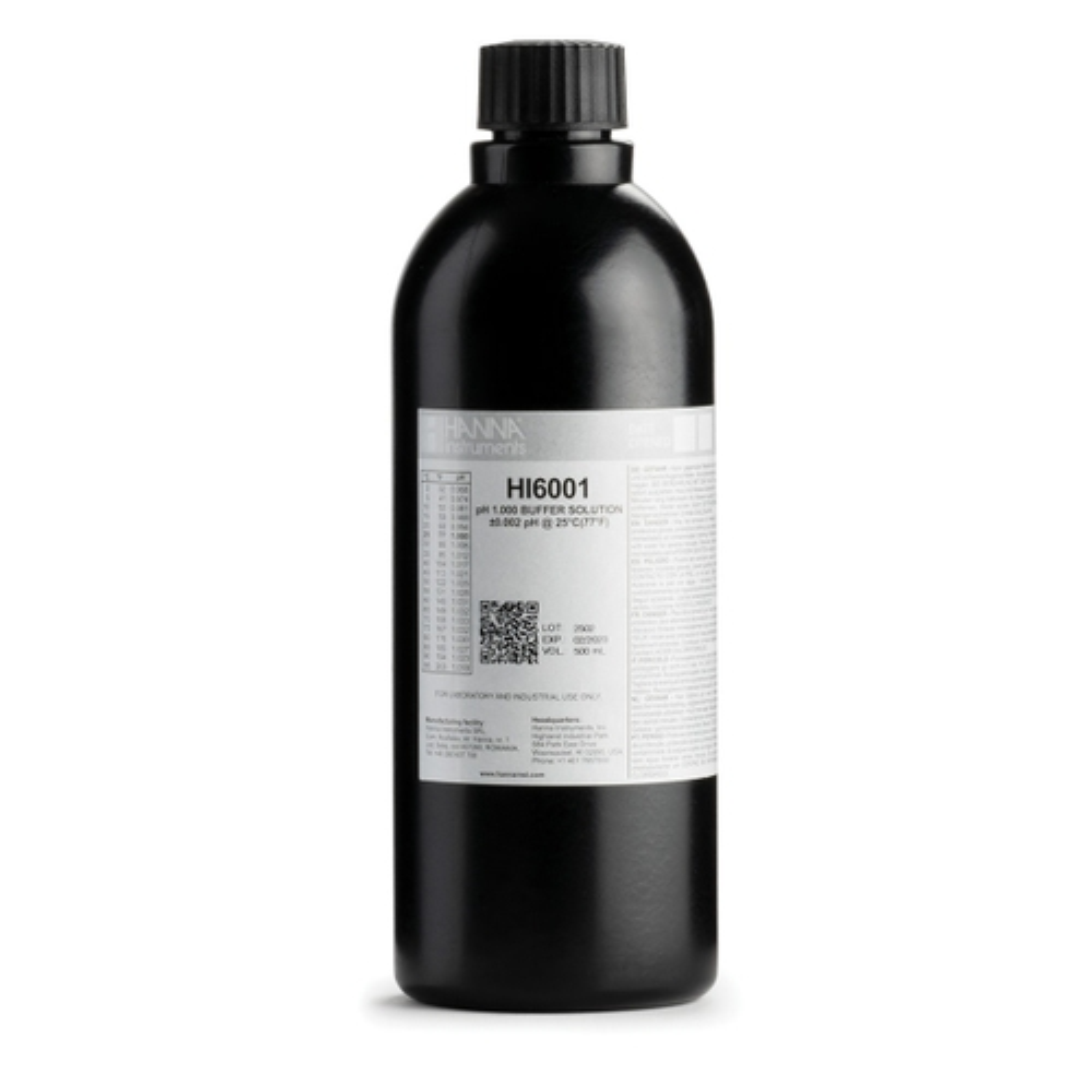 HI6001 pH 1.000 Millesimal Calibration Buffer (500 mL)