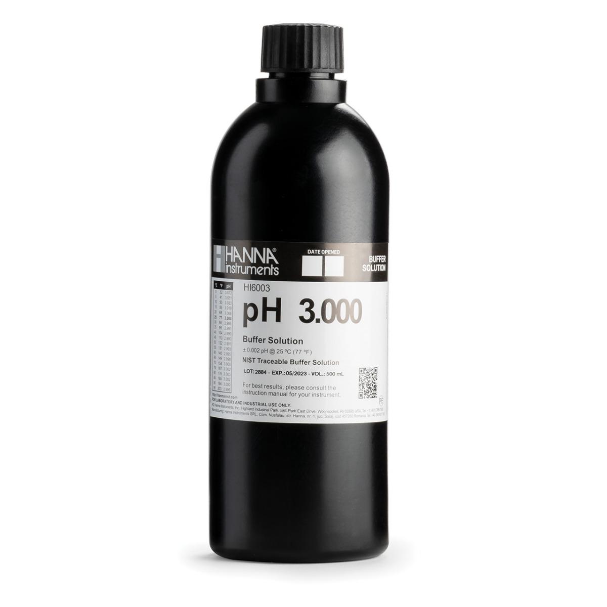 HI6003 pH 3.000 Millesimal Calibration Buffer (500 mL)