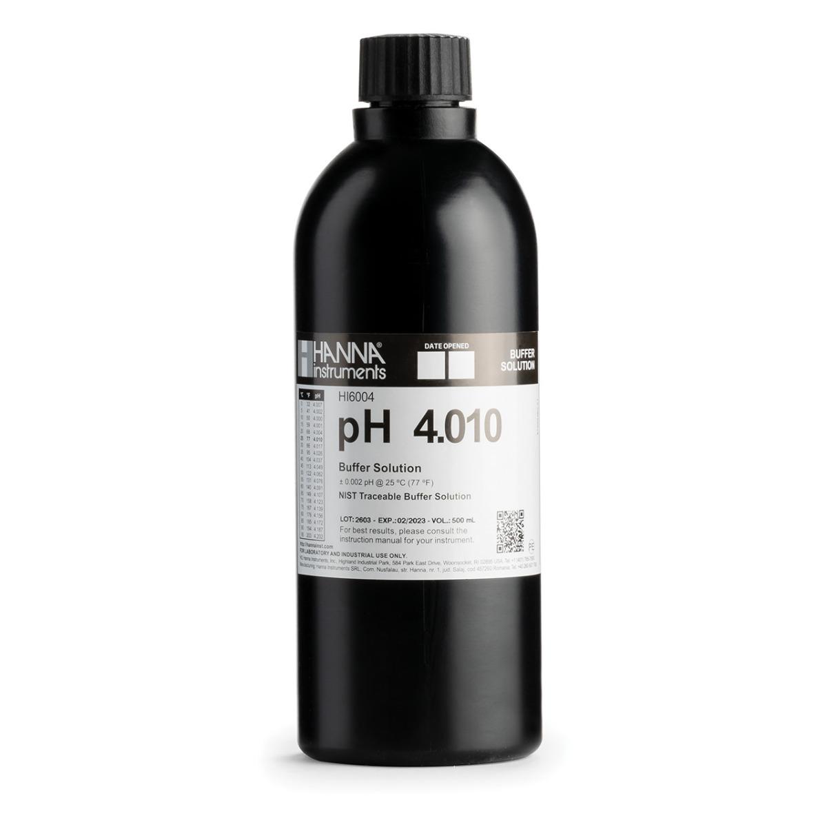 HI6004 pH 4.010 Millesimal Calibration Buffer (500 mL)
