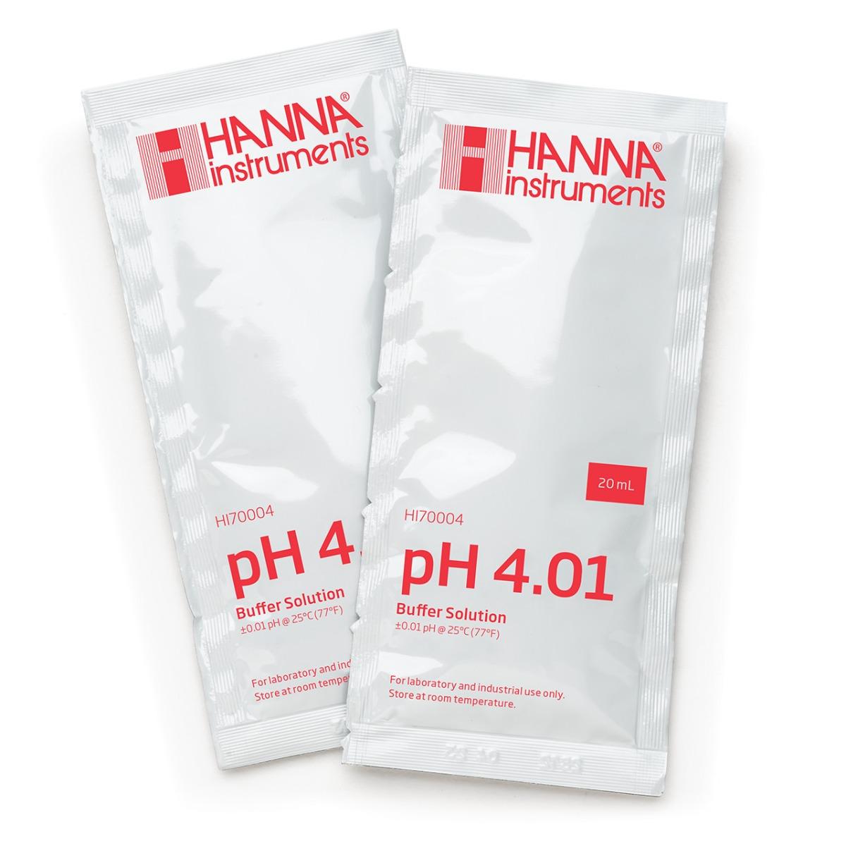 HI70004C pH 4.01 Calibration Buffer (25 x 20 mL) Sachets