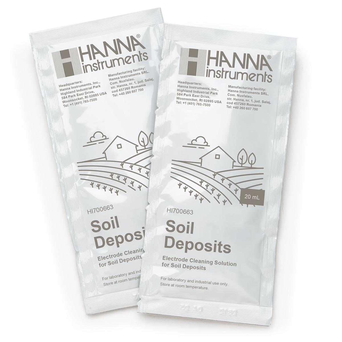 HI700663P Cleaning Solution for Soil Deposits (25 x 20 mL Sachets)