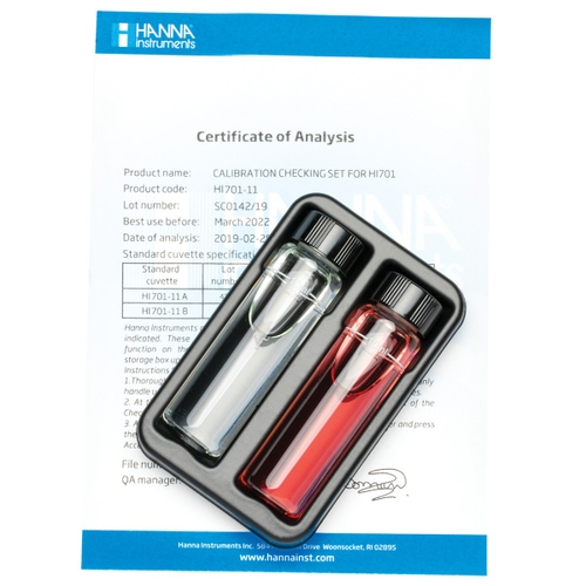 HI701-11 Free Chlorine Checker HC® Calibration Check Set