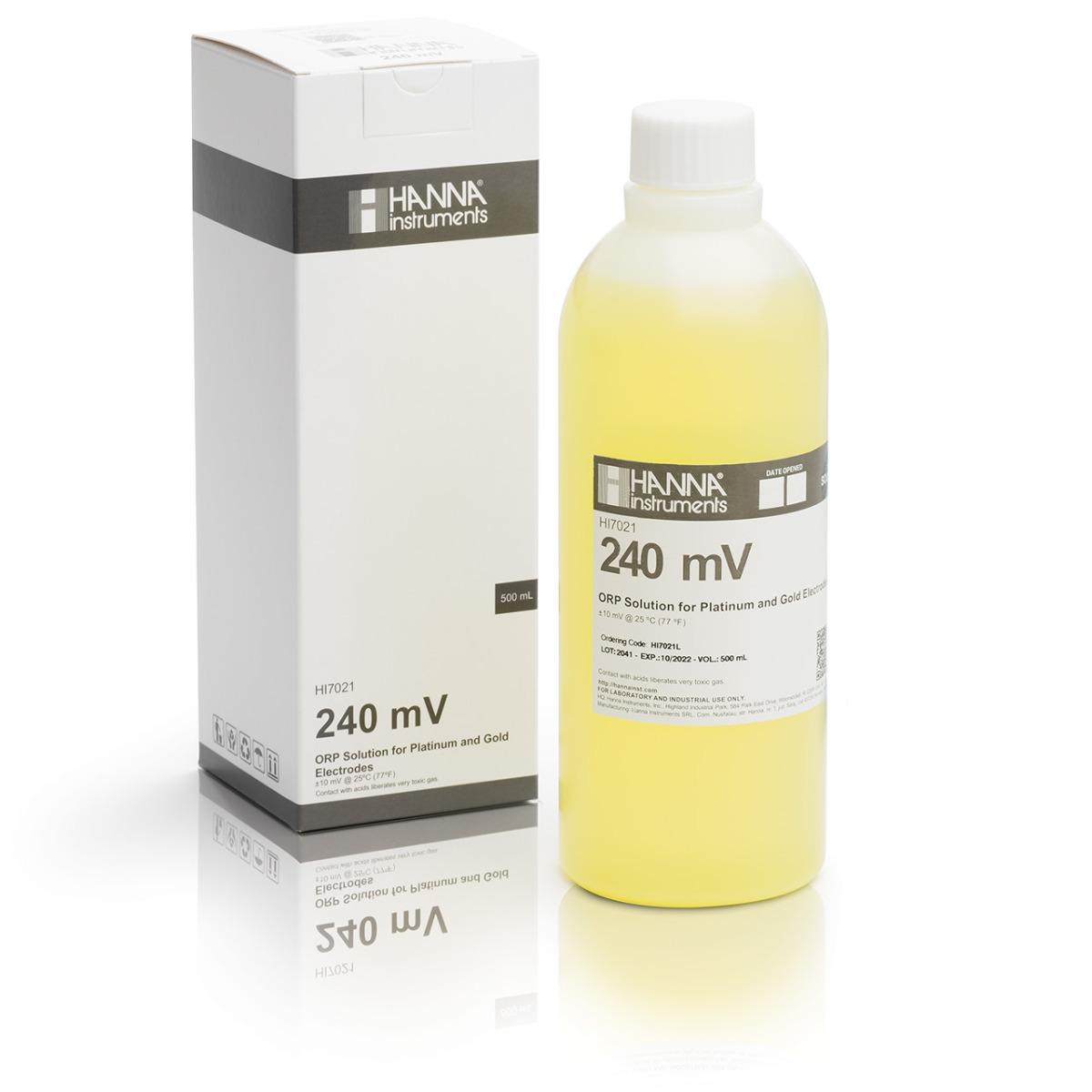HI7021L 240 mV @ 25°C ORP Test Solution (500 mL)