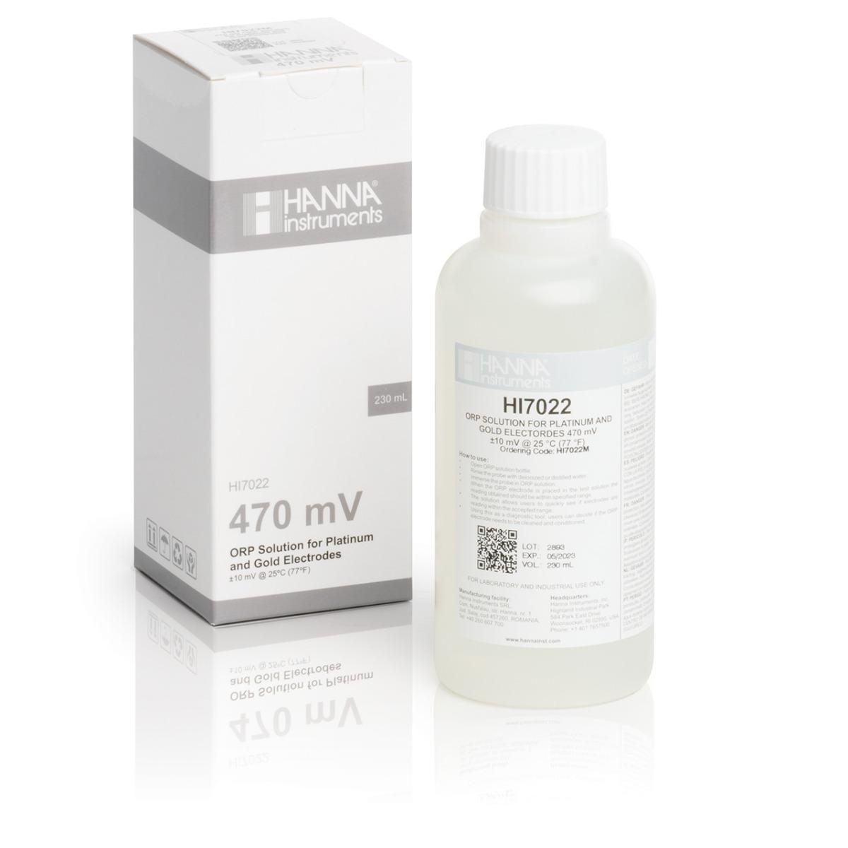 HI7022M ORP Test Solution @470 mV (230 mL)