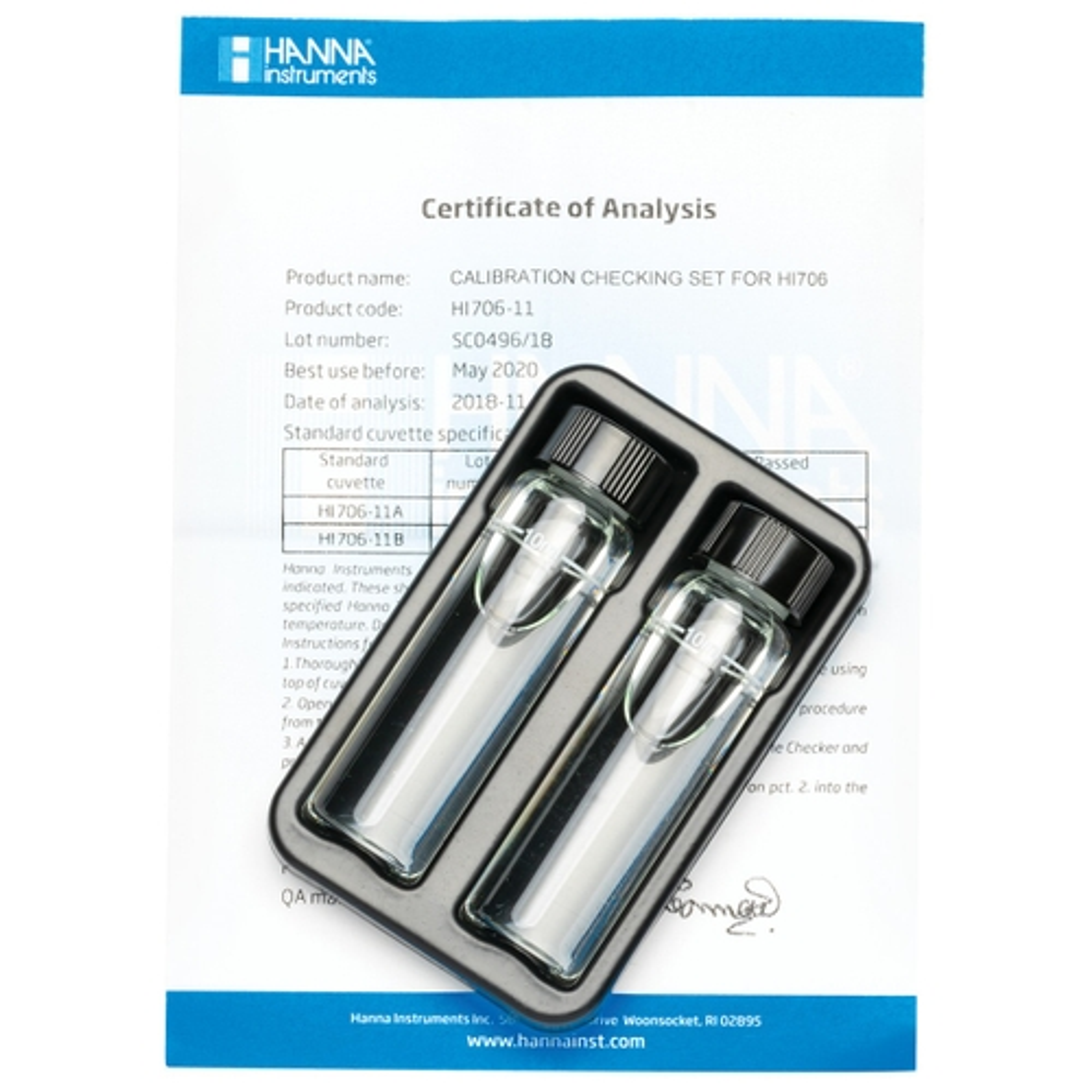 HI706-11 Phosphorus High Range Checker®HC Calibration Set