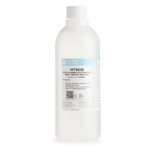 HI70630L Grease and Fats Acid Cleaning Solution (500 mL)
