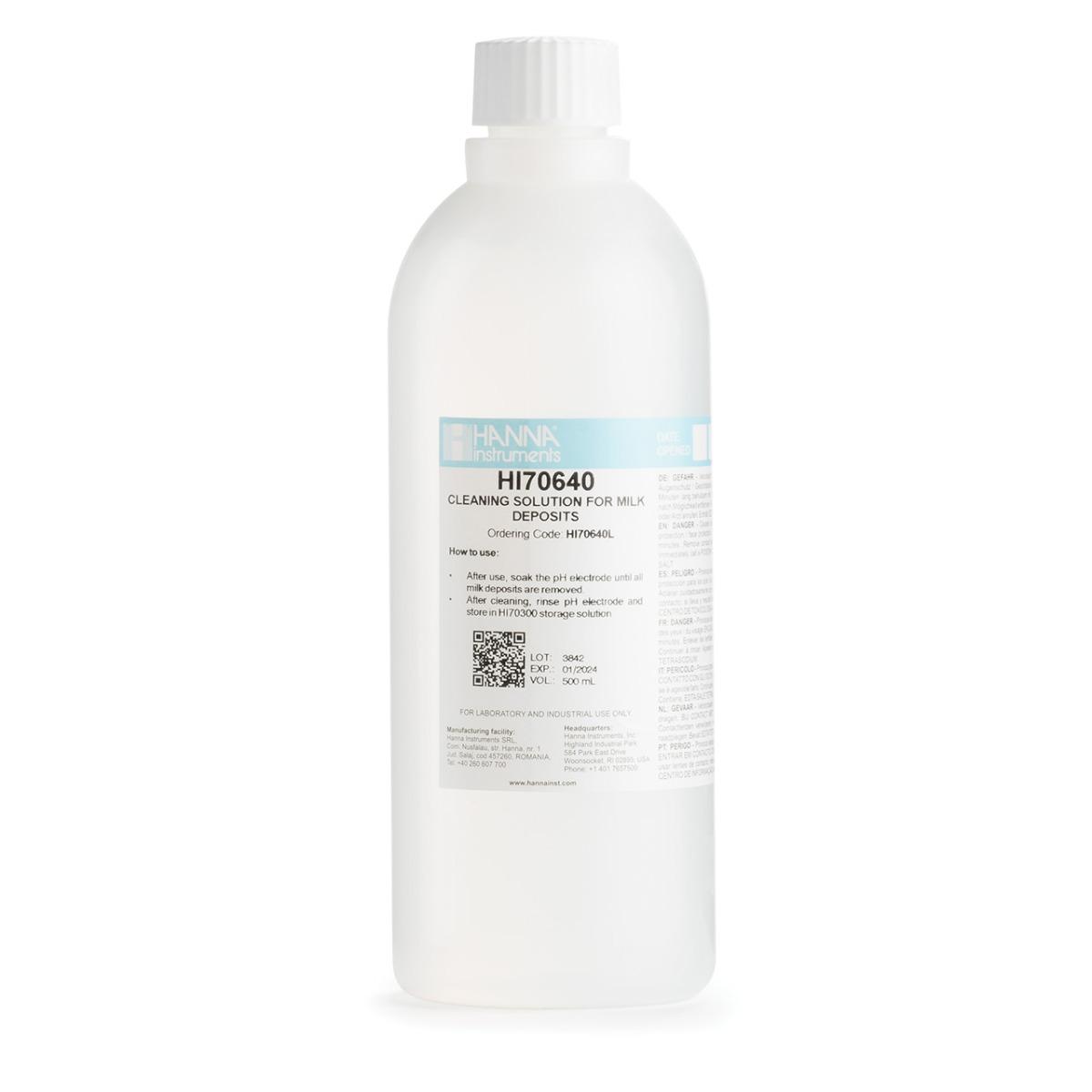 HI70640L Cleaning Solution for Milk Deposits (500 mL)