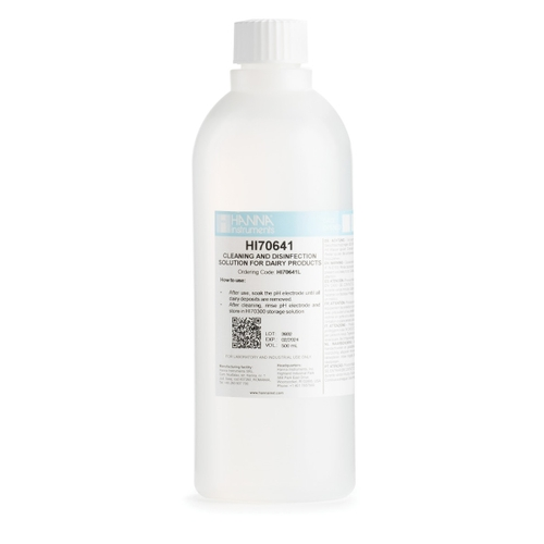 HI70641L Cleaning & Disinfection Solution for Dairy Products (500 mL)