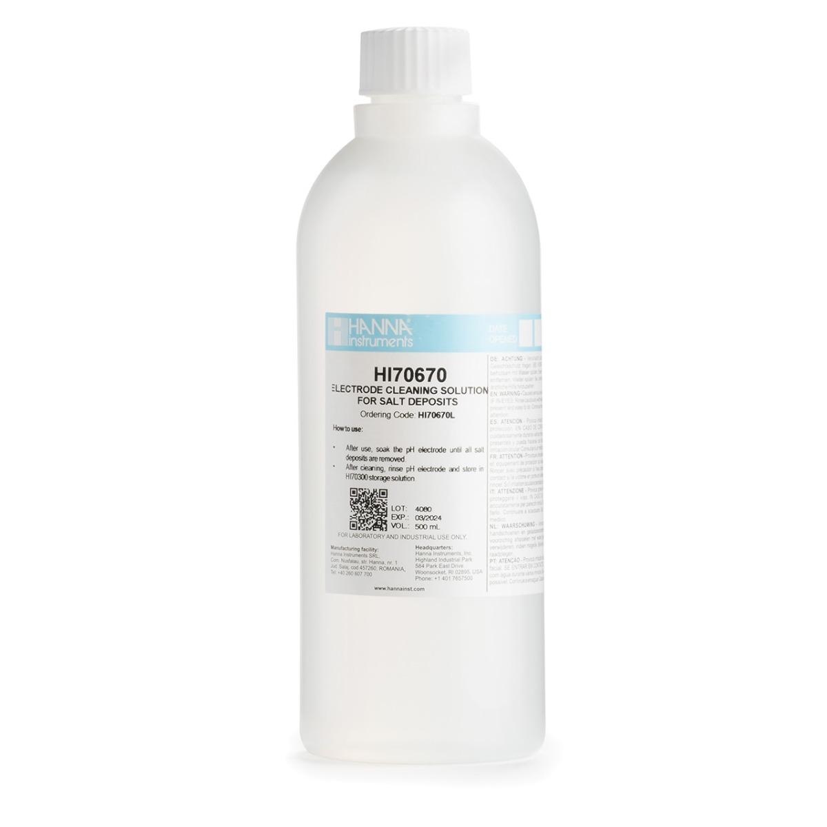 HI70670L Cleaning Solution for Salt Deposits (500 mL)