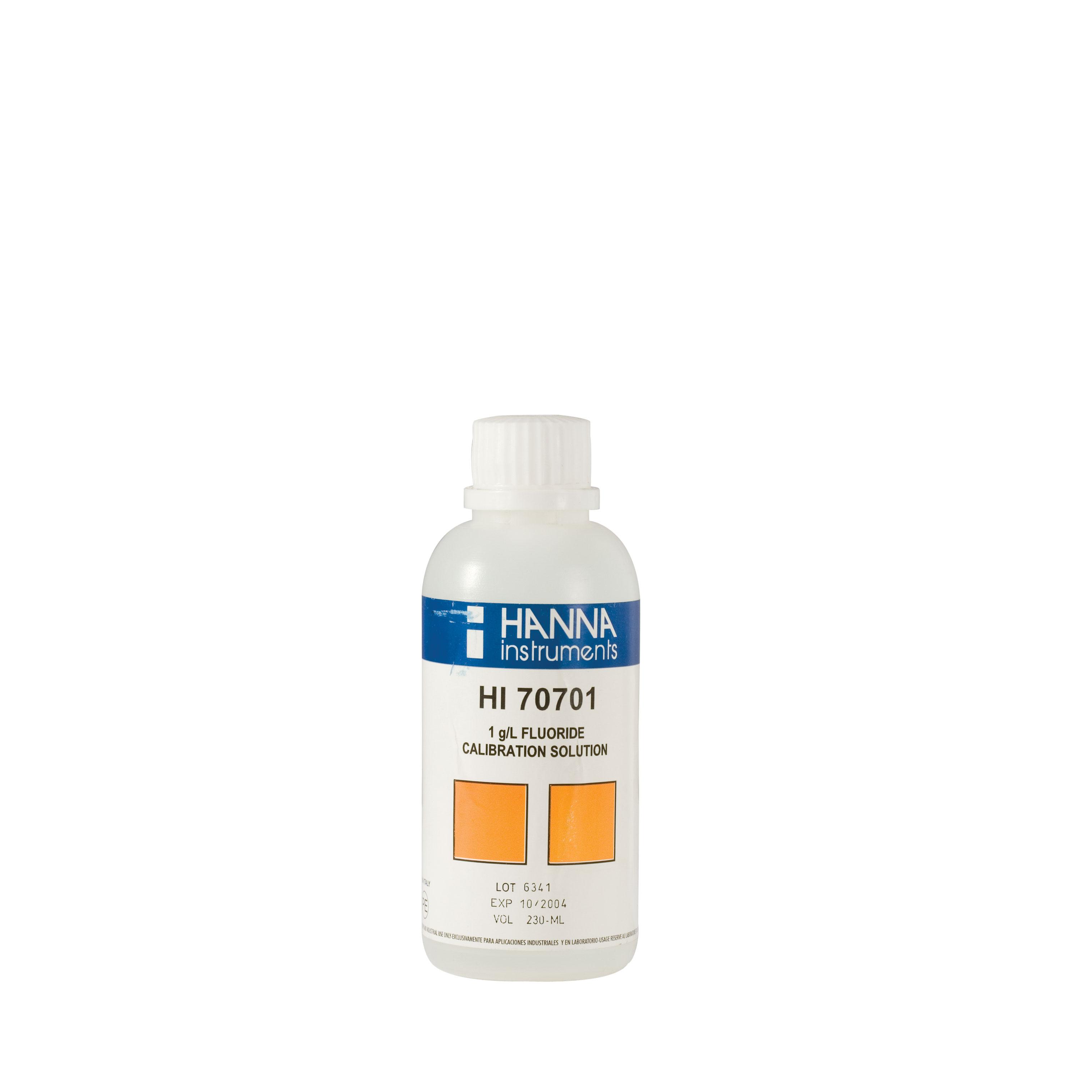 Solución Estándar de Fluoruro de 1 g/L (230 mL) - HI70701M