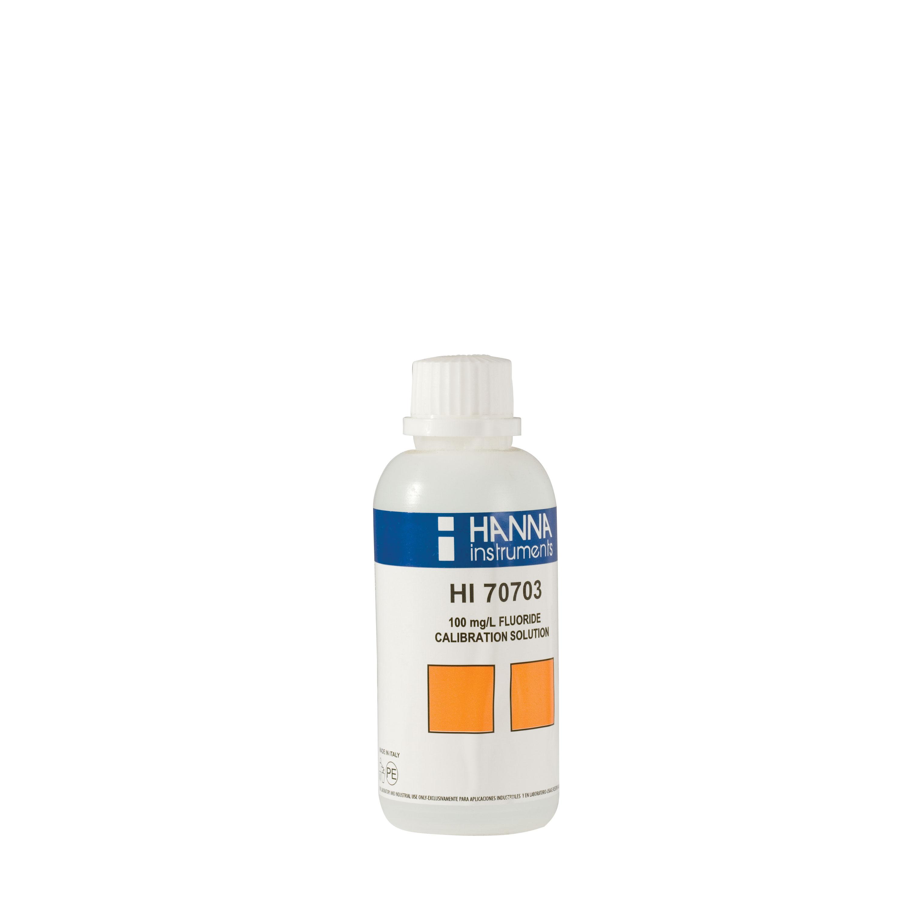 Solución Estándar de Fluoruro 100 mg/L (230 mL) - HI70703M