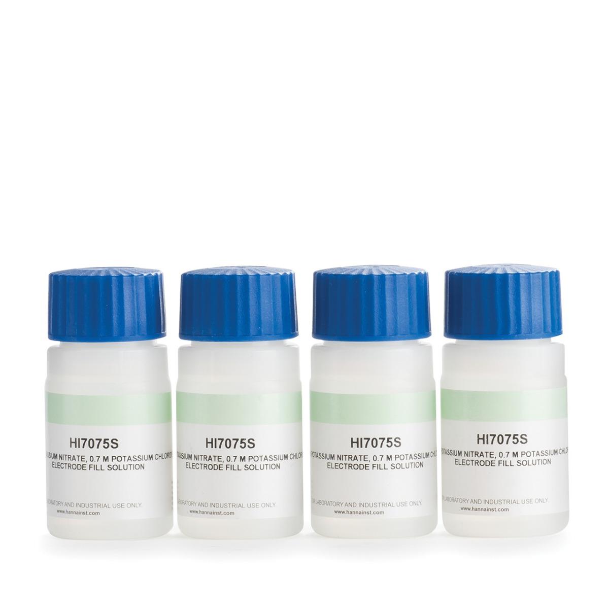 HI7075 Electrolyte Solution 1.7M KNO₃, 0.7M KCl (30 mL x 4)