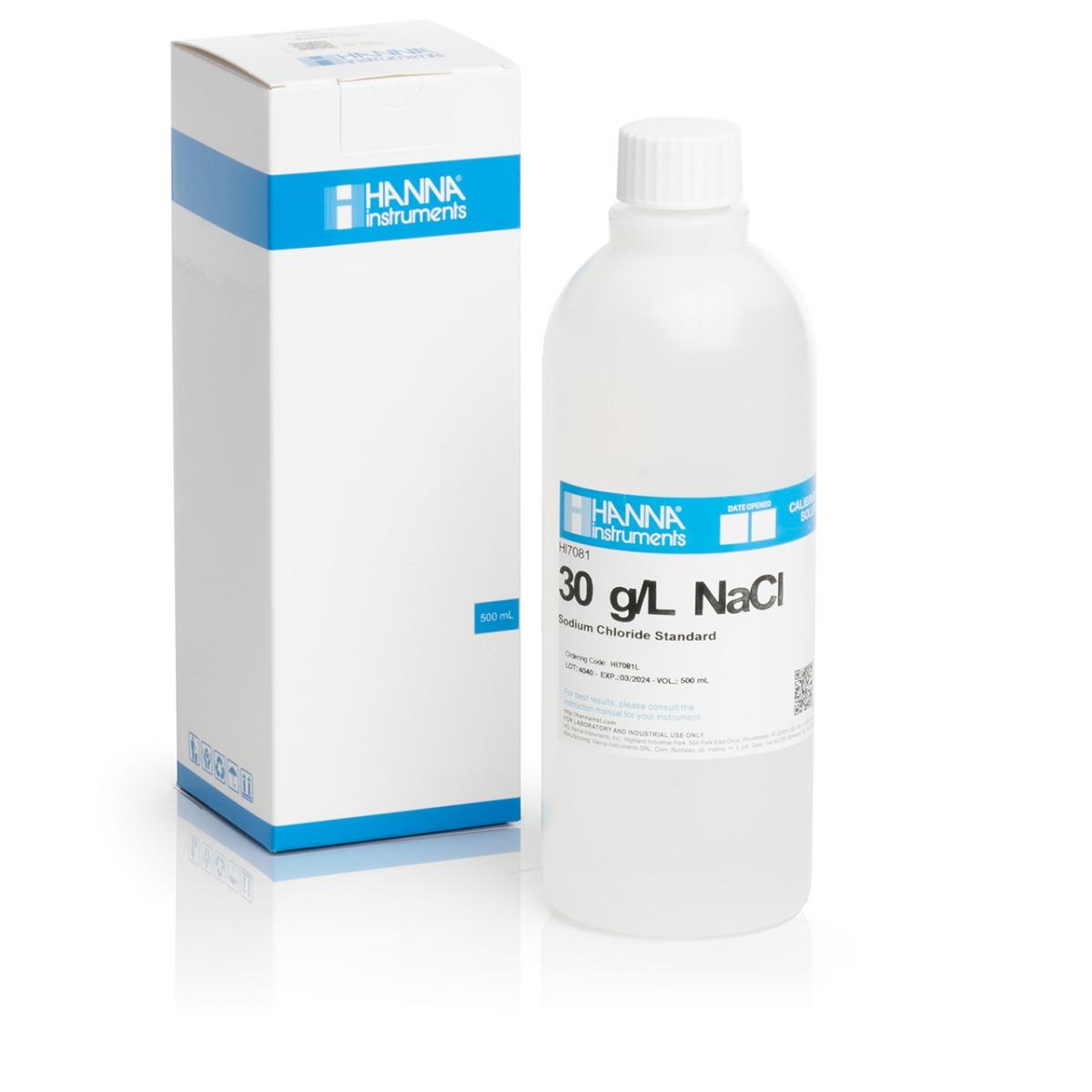 Solución Estándar de Cloruro de Sodio 30 g/L (500 ml) - HI7081L