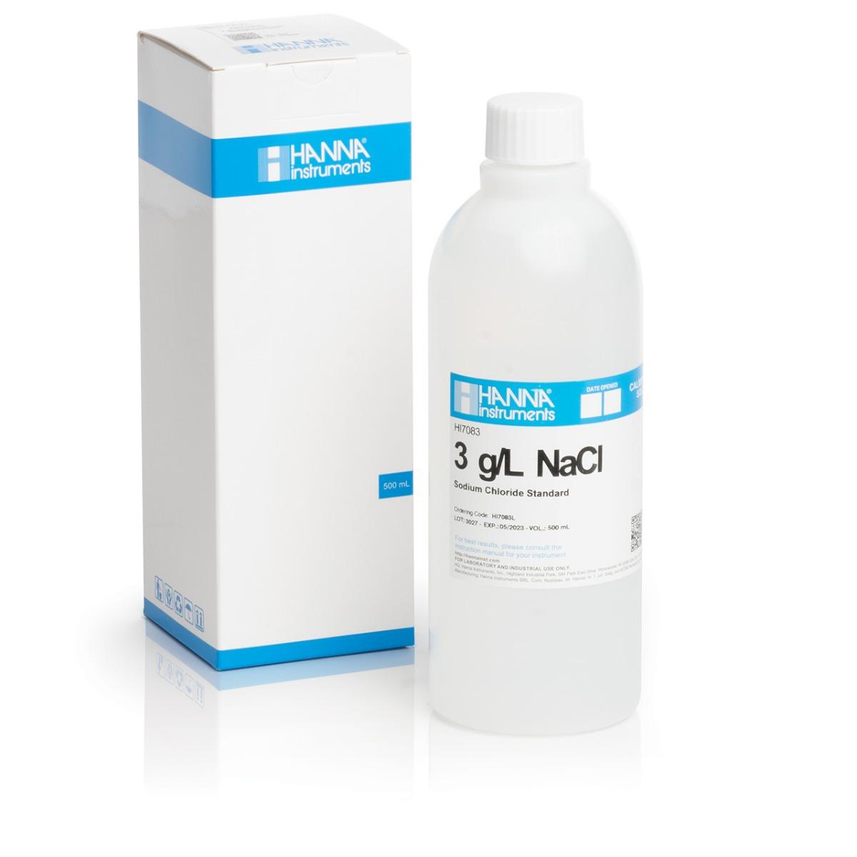 Solución Estándar de NaCl 3.0 g/L (500 ml) - HI7083L
