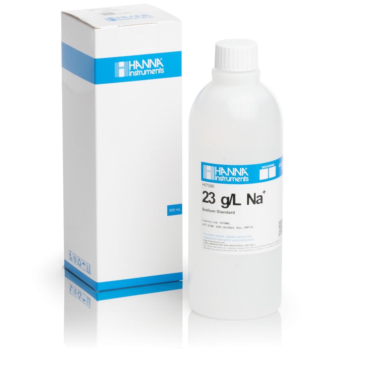 Solución Estándar de Sodio de 23 g / L, 500 mL - HI7086L