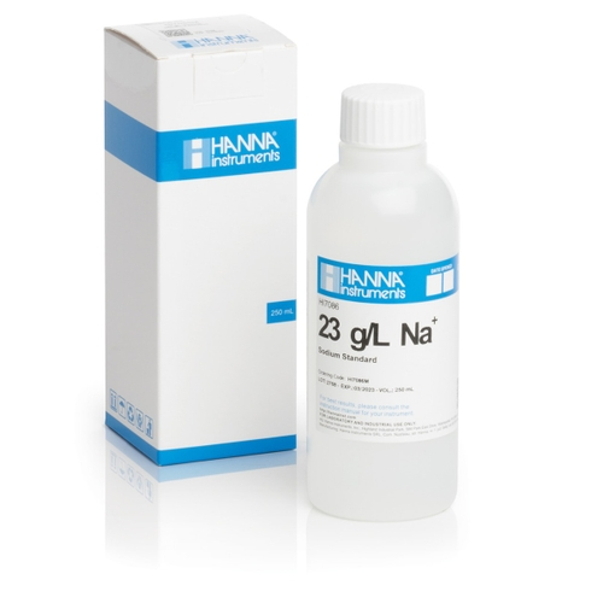 Solución Estándar de Sodio de 23 g / L (230 mL) - HI7086M
