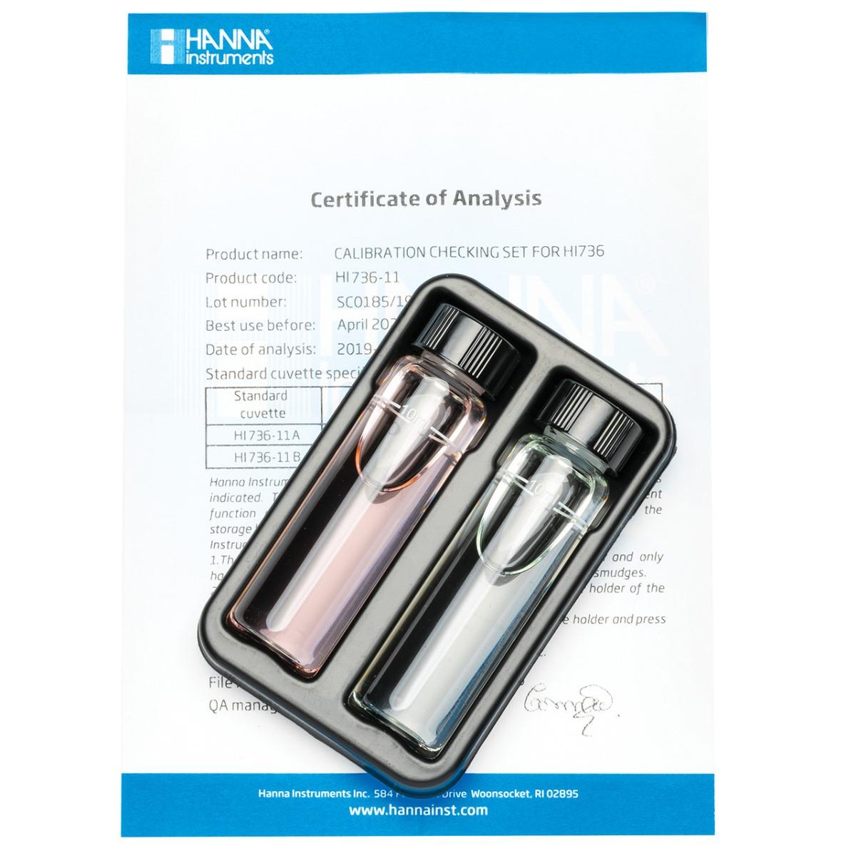 HI736-11 Phosphorus Ultra Low Range Checker® HC Calibration Set