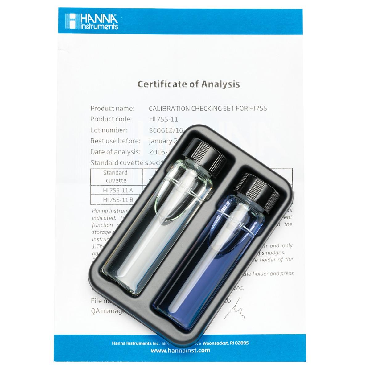 HI755-11 Marine Alkalinity Checker HC® Calibration Set