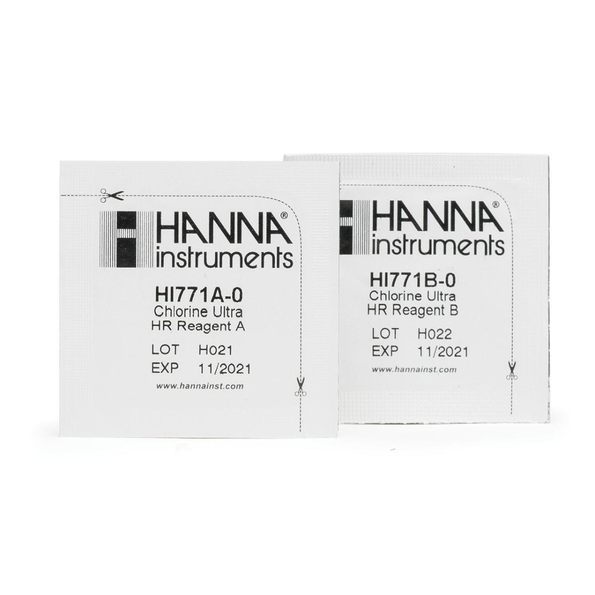 HI771-25 Chlorine Ultra High Range Checker Reagents