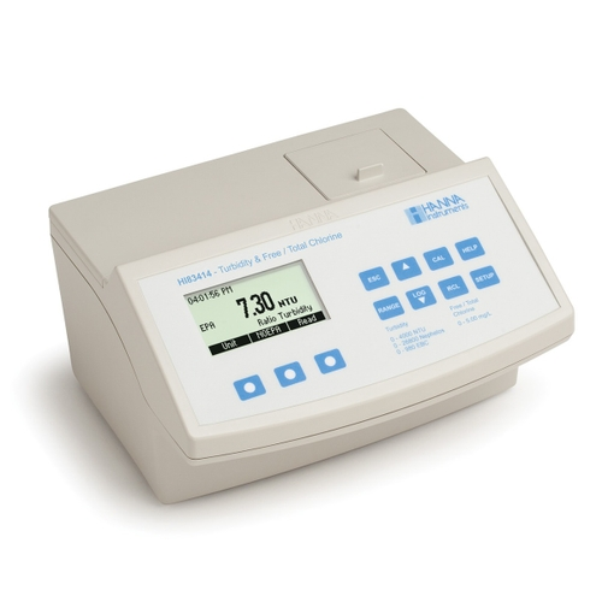 Medidor de Sobremesa para Cloro y Turbidez Compatible con EPA - HI83414