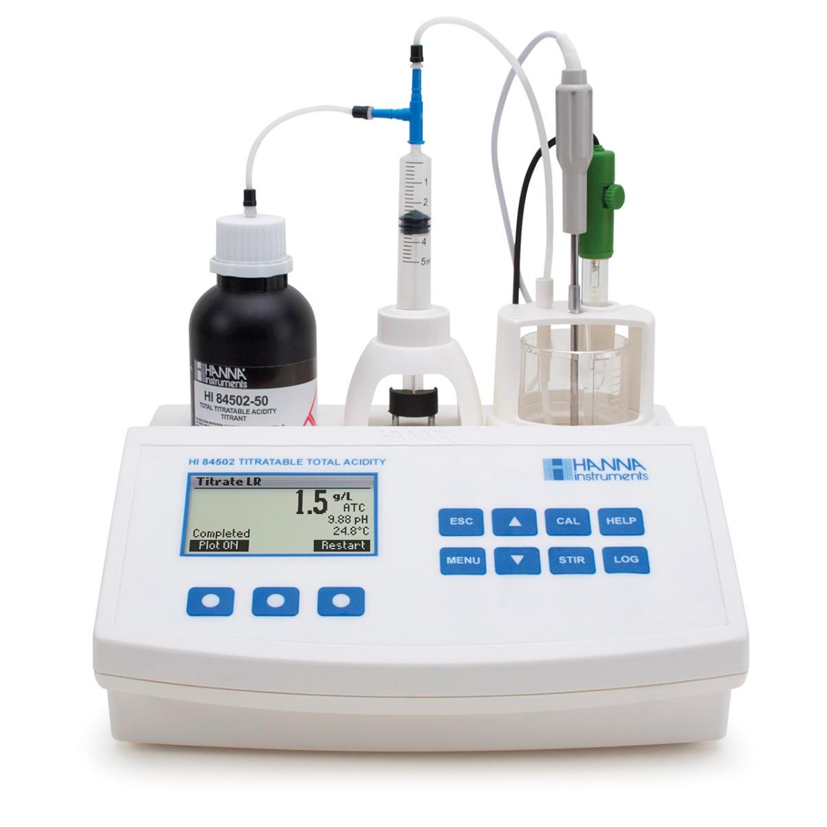 Mini Titulador para Medir la Acidez Titulable en Vino - HI84502