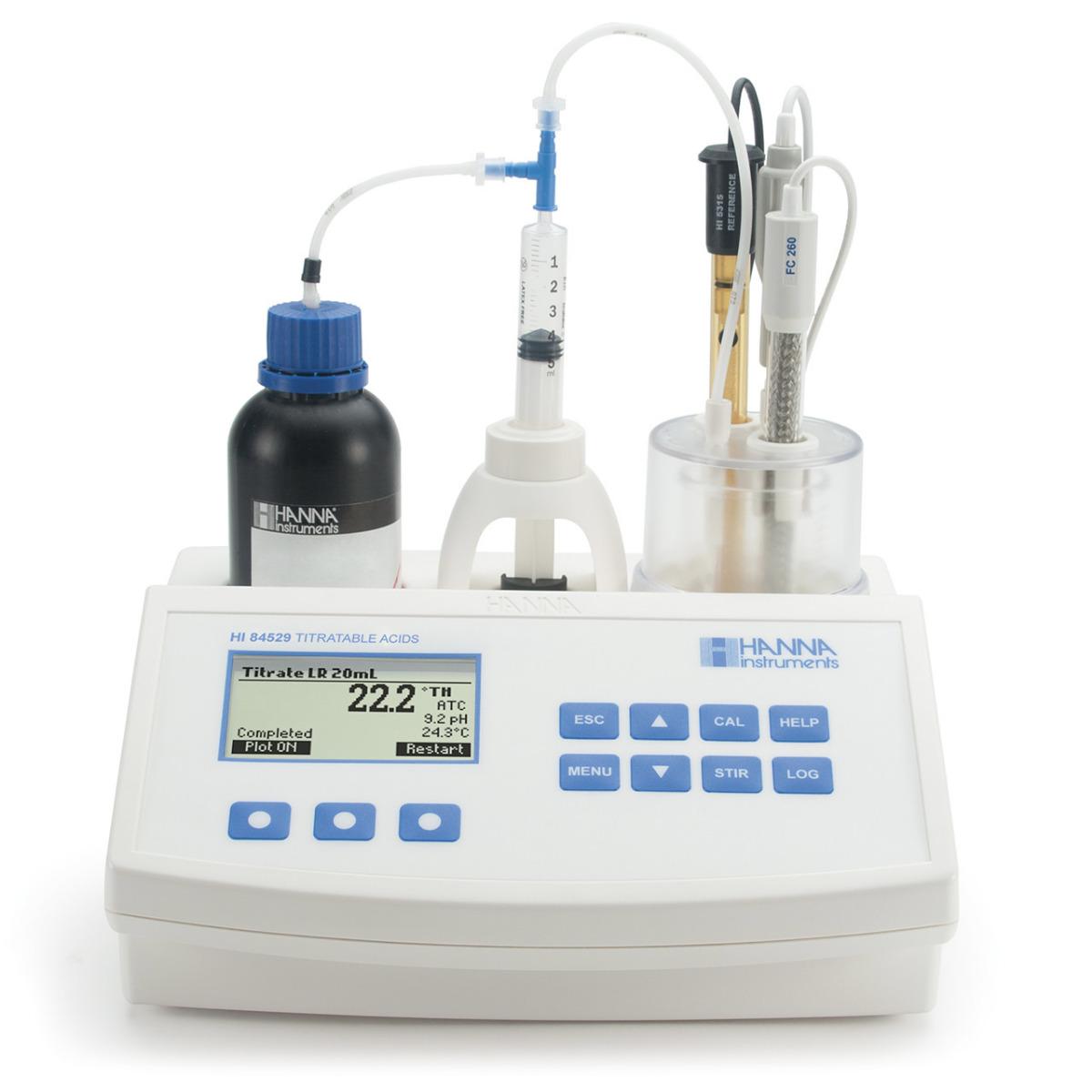 Mini Titulador para Medir la Acidez Titulable en Productos Lácteos - HI84529