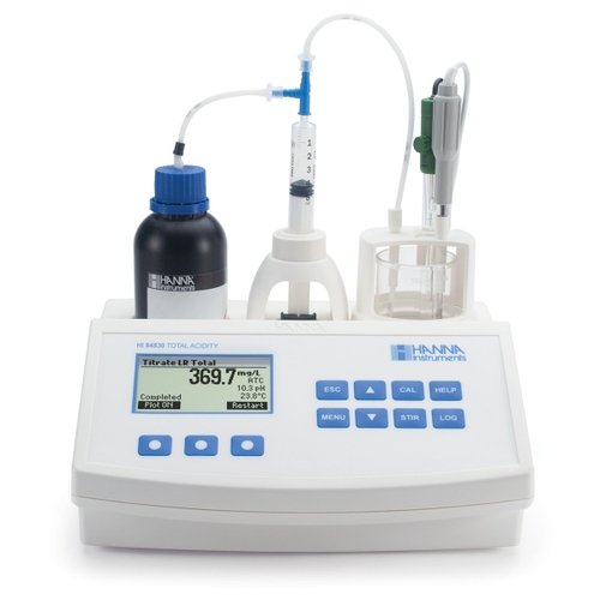 Mini Titulador para Medir la Acidez Titulable en Agua - HI84530