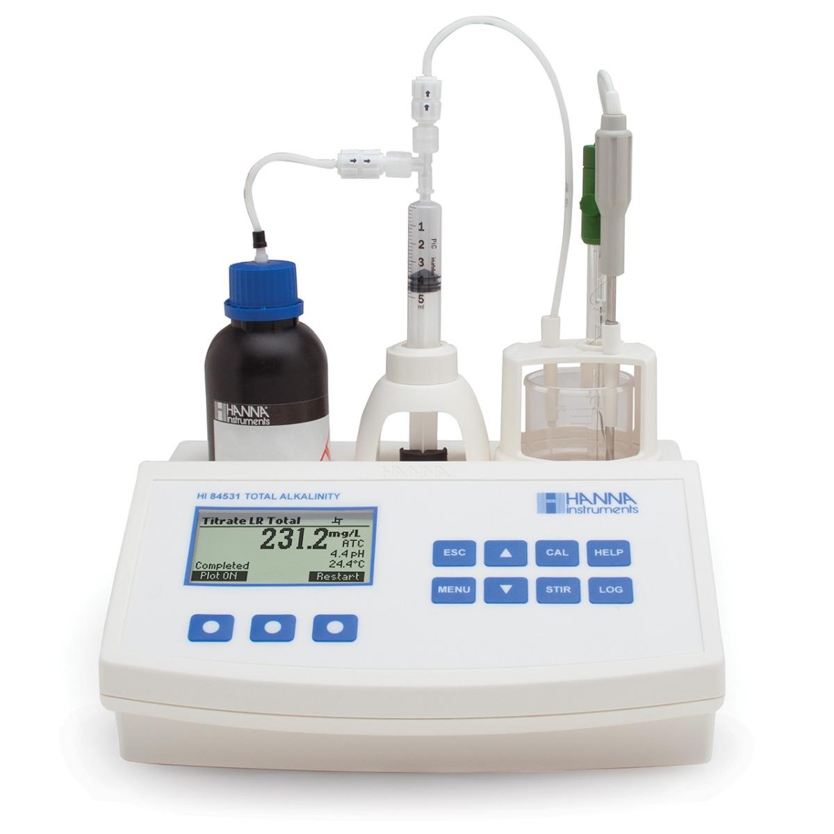 Mini Titulador para Medir la Alcalinidad Titulable en Agua Potable y Aguas Residuales - HI84531