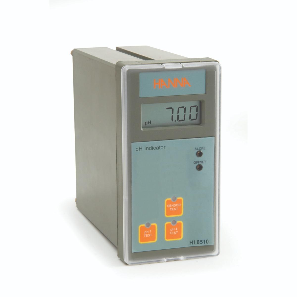 Indicador Analógico de pH Montado en Panel con Prueba de Auto Diagnóstico - HI8510