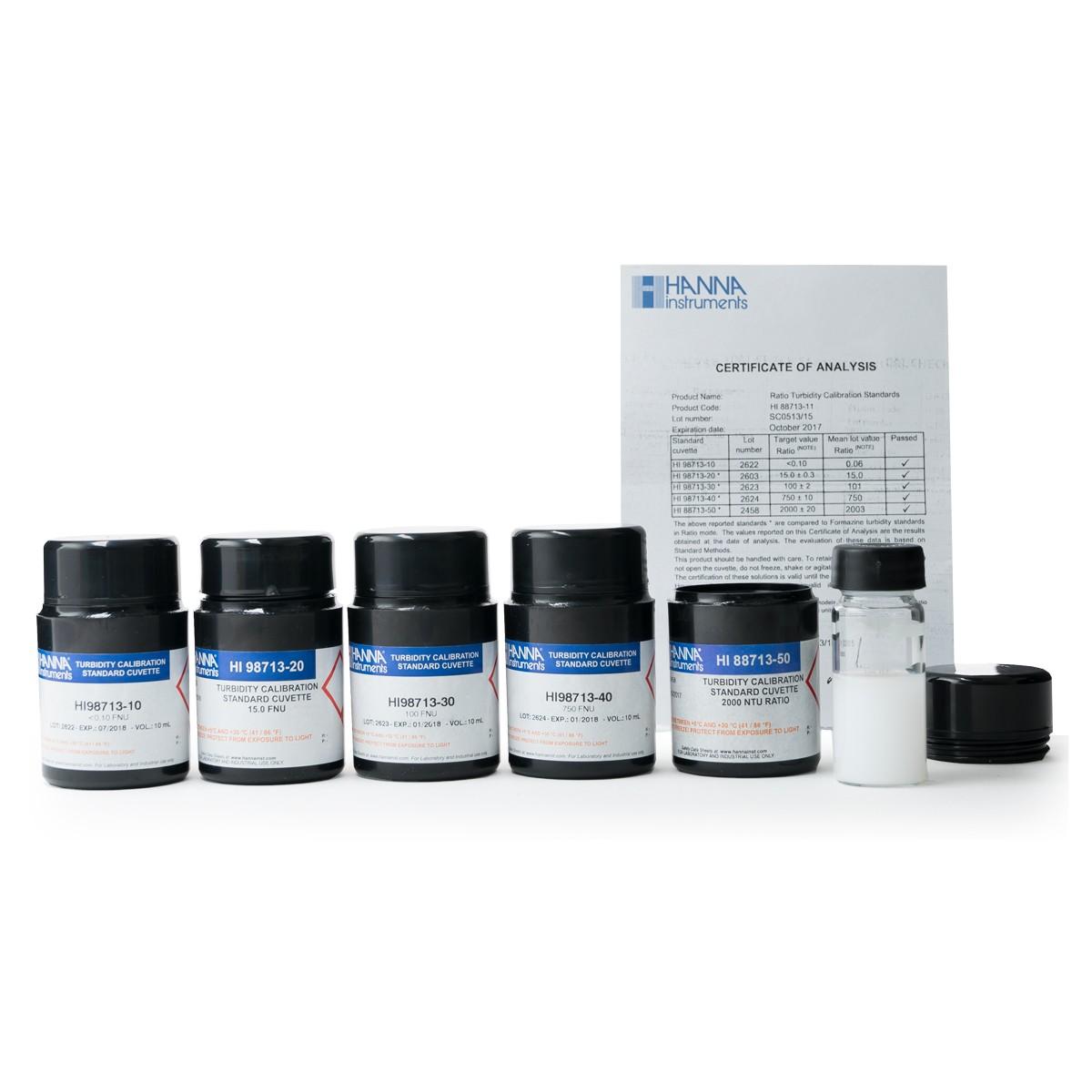 Turbidity Calibration Standards - HI88713-11
