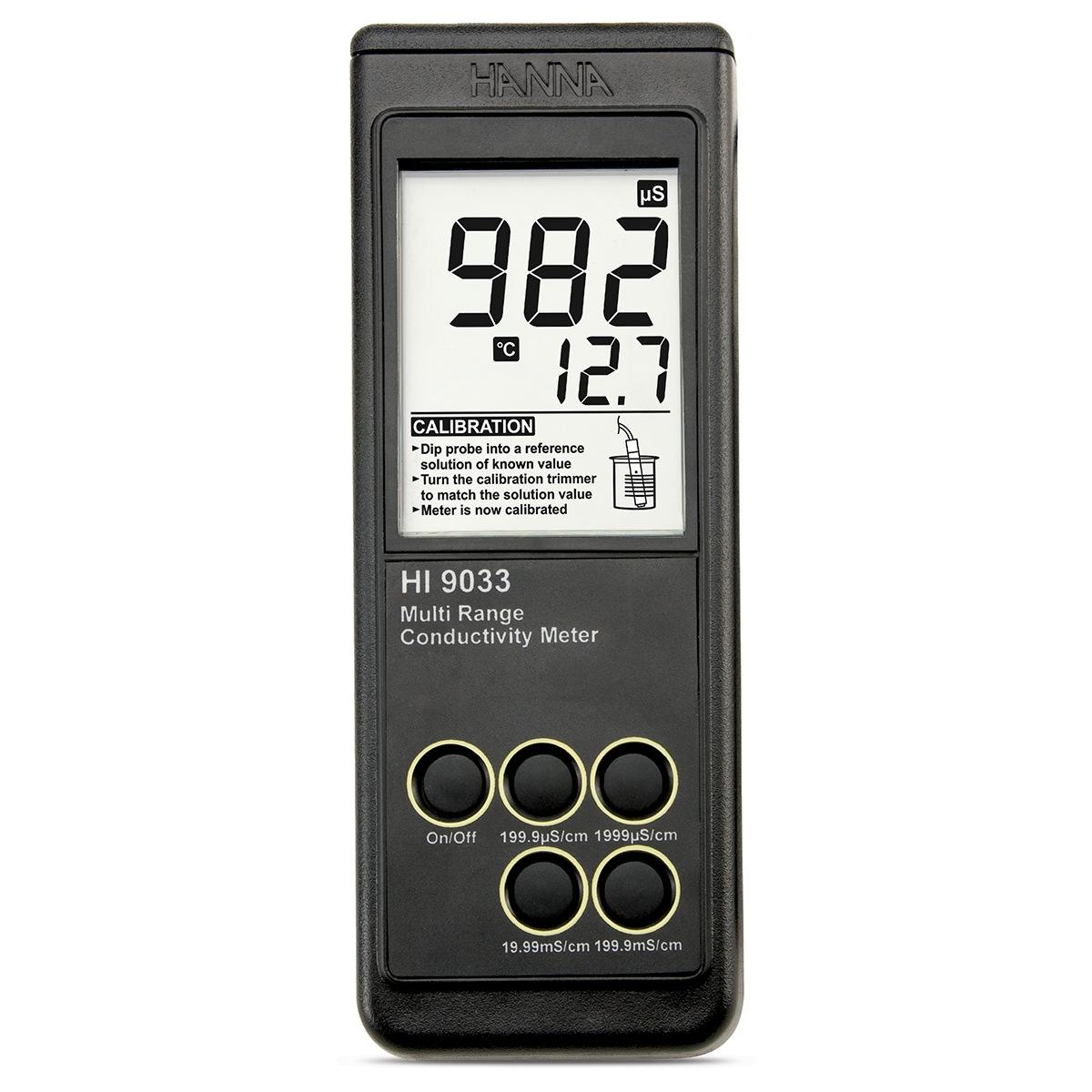 Medidor de Conductividad Resistente, Portátil y a Prueba de Agua - HI9033