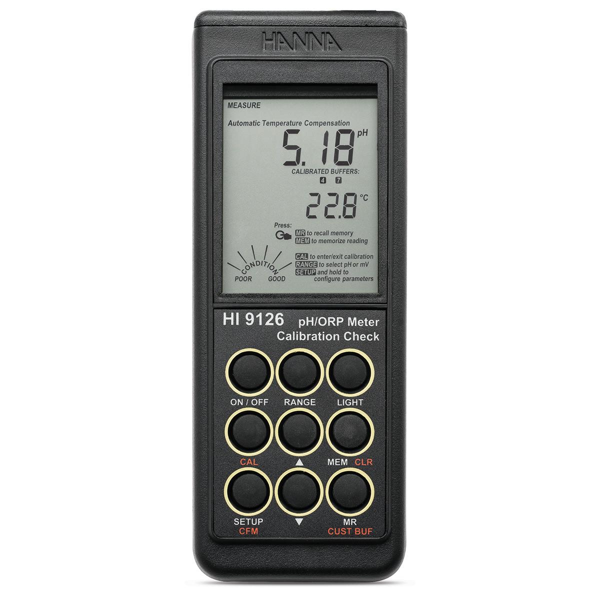 Medidor Portátil Impermeable de pH/mV con CAL Check™ - HI9126