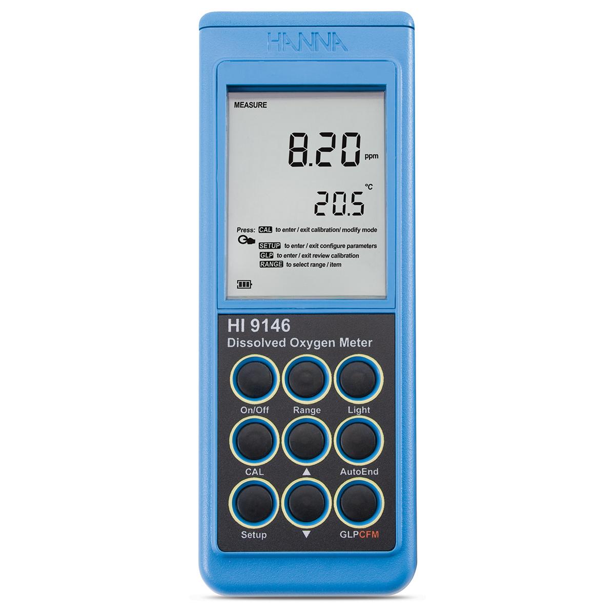 Medidor Portátil para Oxígeno Disuelto - HI9146