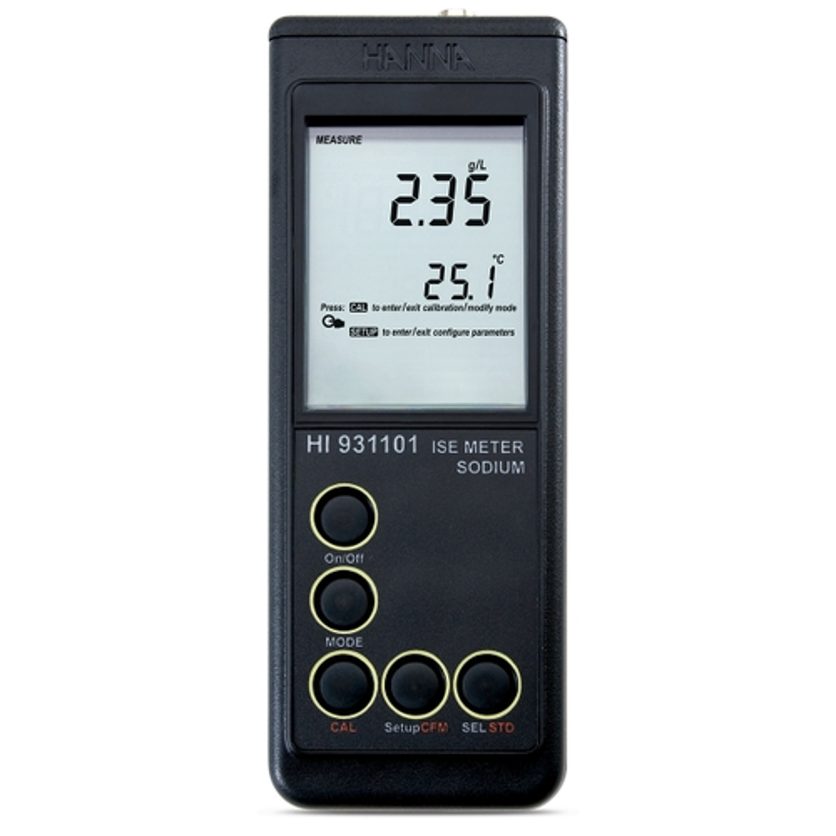 Medidor Portátil de Contenido y Actividad de Sodio - HI931101
