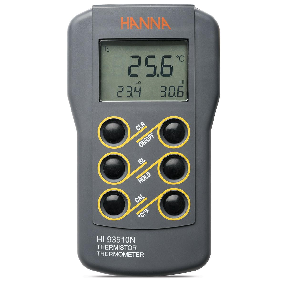 Termómetro Termistor Impermeable con Opción de Calibración - HI93510N